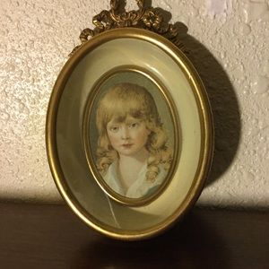 Metal framed Vintage Picture